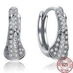 Aceworks Price Wholesale 925 <b>Sterling</b> <b>Silver</b> Round Solid Zirconia Ear Hoop <b>Earrings</b> Fine Jewelry For Women Crystal Brand Design