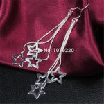 Star <b>Earrings</b> Fashion Jewelry For Women 925 <b>Sterling</b> <b>Silver</b> Ear Engagement Romantic Birthday Party Wedding Gift