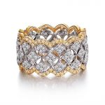 Size5-11 Stunning Unique Desgin Luxury Jewelry 214Pcs AAA CZ 925 <b>Sterling</b> <b>Silver</b> Simulated stones Wedding Women <b>Ring</b> Gift