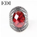 EDI Vintage 925 <b>Sterling</b> <b>Silver</b> <b>Silver</b> <b>Ring</b> For Women Bohemia Cutting Surface Retro Jewelry Romantic Wedding Band Bijoux Jewelry