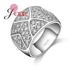 PATICO Luxury Broad 925 <b>Sterling</b> <b>Silver</b> <b>Ring</b> For Women/Men Crystal Fashion Finger Jewelry Cubic Zircon Wedding Engagement <b>Rings</b>