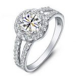 925 <b>Sterling</b> <b>Silver</b> Engagement <b>Rings</b> for Women 2016 New Super Shiny 3 Carat Stone Wedding <b>Ring</b> Jewelry