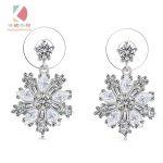 Lingdong fashion 925 <b>silver</b> dangling <b>earring</b> snowflake series Micro mosaic personal fashion birthday gift free shipping
