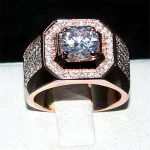 choucong Engagement Wedding Bands boys Jewelry Men's 925 <b>Sterling</b> <b>Silver</b>&rose gold AAAAA Zircon paev cz Stone <b>ring</b> Sz 7-13 gift