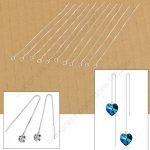 Free Shipping 20Pcs Wholesale Lot Ear Threads DIY Crystal Jewelry Findings 925 <b>Sterling</b> <b>Silver</b> Box Chain <b>Earring</b> Settings Nice