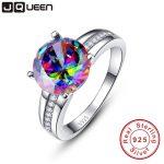 Brand Jewelry 6.3Ct Striking Rainbow Fire Mystic Topaz <b>Ring</b> For Lady Birthday Gift 925 Solid <b>Sterling</b> <b>Silver</b> Size 6 7 8 9