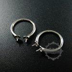 925 solid <b>sterling</b> <b>silver</b> pearl bezel <b>ring</b> adjustable <b>ring</b> DIY supplies jewelry findings 1212021