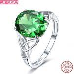 Jrose Alexandrite 7.8ct Green Quartz Solitaire <b>Rings</b> For Women Solid 925 <b>Sterling</b> <b>Silver</b> <b>Ring</b> Wedding Jewelry Fine Jewelry