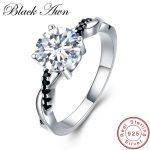 [BLACK AWN] 925 <b>Sterling</b> <b>Silver</b> Fine Jewelry Trendy Engagement Bague for Women Wedding <b>Rings</b> C037
