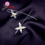 JEXXI Hot Sale 925 <b>Sterling</b> <b>Silver</b> <b>Earrings</b> Jewelry 925 <b>Sterling</b> <b>Silver</b> Long Lotus Flower <b>Earrings</b> For Women Accessory