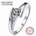 Sent Certificate of <b>Silver</b>!!! 100% Pure 925 <b>Sterling</b> <b>Silver</b> <b>Ring</b> Set Luxury 0.75 Carat CZ Diamant Wedding <b>Rings</b> for Women AR004