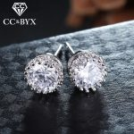 Fashion jewelry <b>sterling</b> <b>silver</b> stud <b>earrings</b> for women white gold color brincos fine <b>earring</b> wedding party jewelry E001