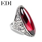 EDI Retro 925 <b>Sterling</b> <b>Silver</b> Nature Chalcedony Adjustable <b>Rings</b> for Women Classic Exaggerate Personality Fine Jewelry <b>Rings</b>